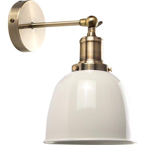 Minisun industrial 1 light wall sconce reviews wayfair for Wayfair industrial lamp