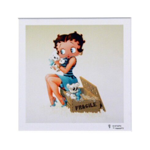 Betty Boop with Puppies Graphic Art