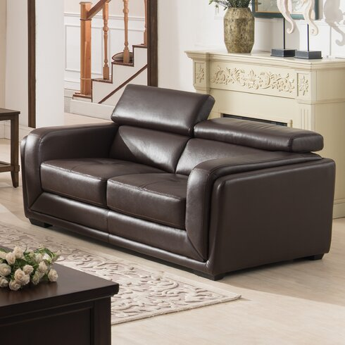Ac pacific calvin modern 2 piece leather living room set reviews 2 piece leather living room set