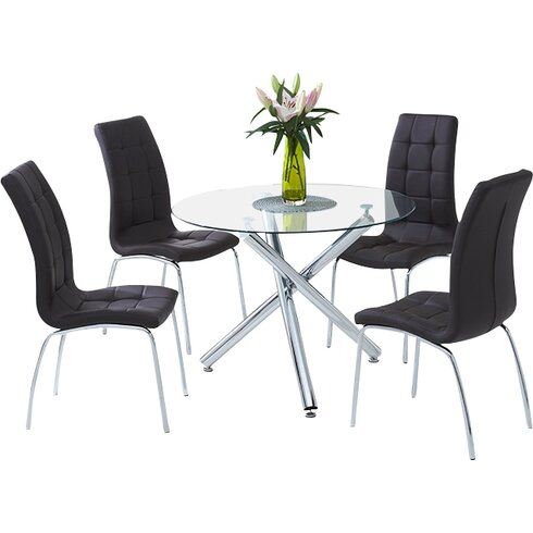 Nessa Dining Set with 4 Chairs