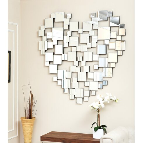 cooper oversized mirrored wall decor reviews joss main - Mirrored Wall Decor