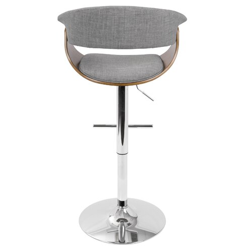 Wade Logan Gale Adjustable Height Swivel Bar Stool