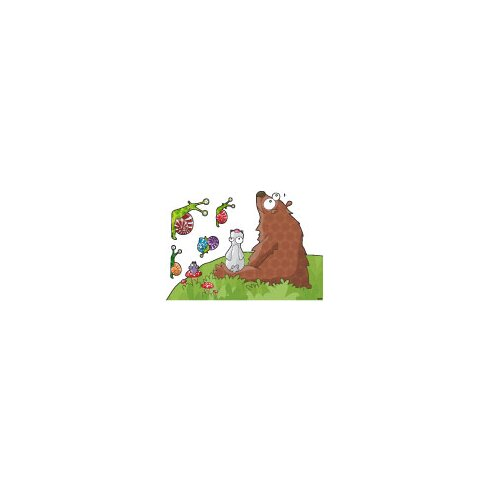Ludo Animals Listen to a Story Wall Decal