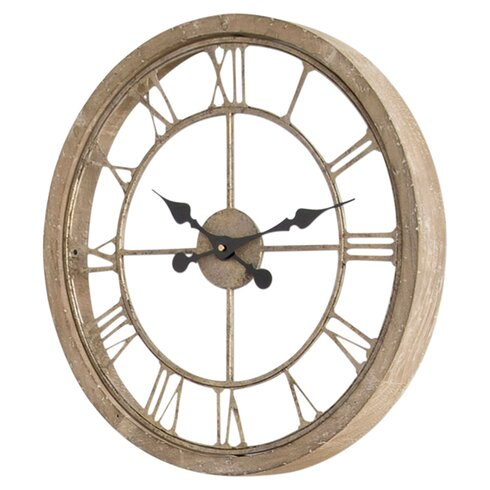 Laurel foundry modern farmhouse natural wood wall clock for Decoration murale wayfair