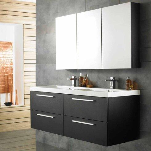 Quartet 144cm Double Vanity Set with Mirror