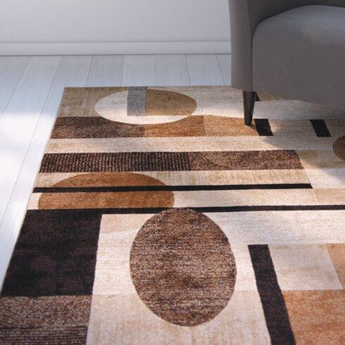 Zipcode Design Nolan Patterned Brown Tan Area Rug