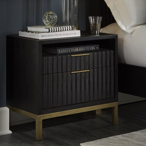 Willa arlo interiors holford 2 drawer nightstand reviews - Willa arlo interiors keeley bar cart ...