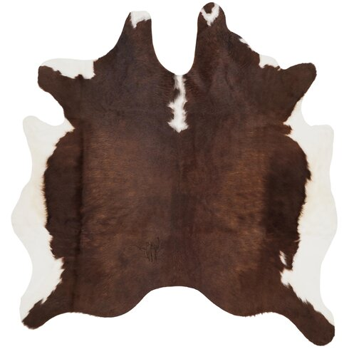 Kingfisher Hand-Woven Brown/White Area Rug