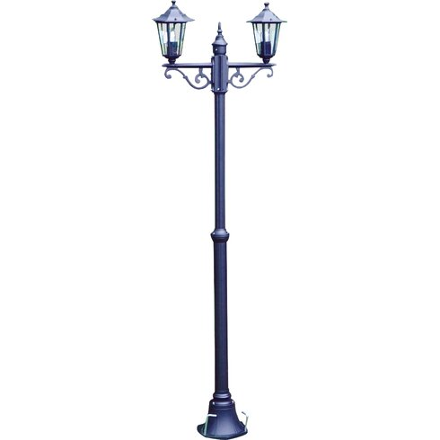 Victorian 2 Light 200cm Post Lantern Set