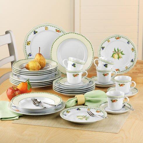 Alba Obst 30 Piece Dinnerware Set, Service for 6