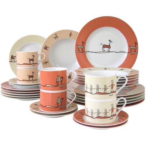 Urban Style 30 Piece Dinnerware Set