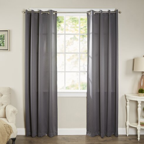 Charlton Home Pheobe Light Filtering Single Curtain Panel