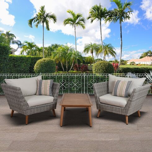 Langley street newbury patio 3 piece deep seating group for Outdoor furniture langley