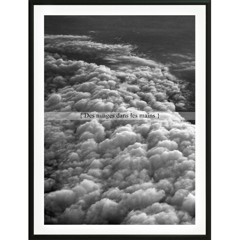 'Clouds in the hands' by Flora David Framed Graphic Art