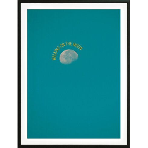 'Walking on The Moon' by Flora David Framed Graphic Art