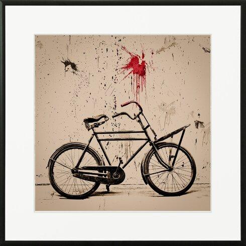 'Velo Ny' by Philippe David Framed Graphic Art