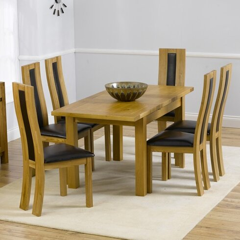Ritual Dark Extendable Dining Table and 6 Chairs