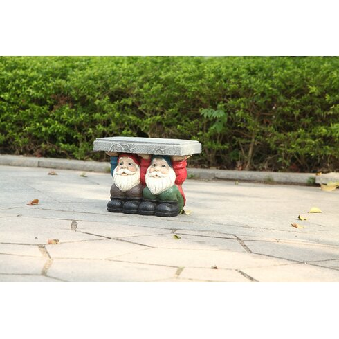 Hi line gift ltd two gnomes sitting plant stand amp reviews wayfair ca