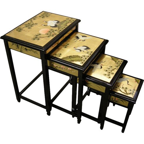 Gold Leaf 4 Piece Nest of Tables