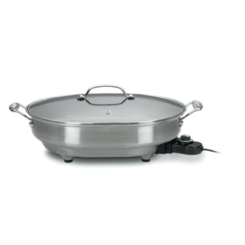 Electric Skillet with Lid