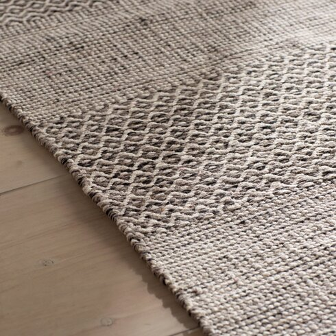 Oxbow Hand Woven Ivory Anthracite Area Rug Amp Reviews