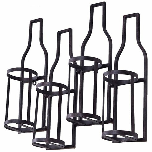Welland industries llc 4 bottle wall mounted wine rack for Abanos furniture industries decoration llc