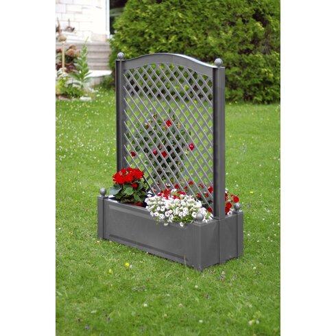 caracella rechteckiger pflanzkasten zentral mit spalier. Black Bedroom Furniture Sets. Home Design Ideas