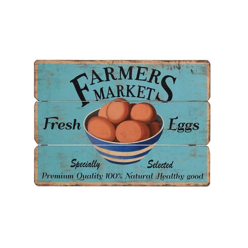 Wooden Farmers Market Graphic Art Plaque