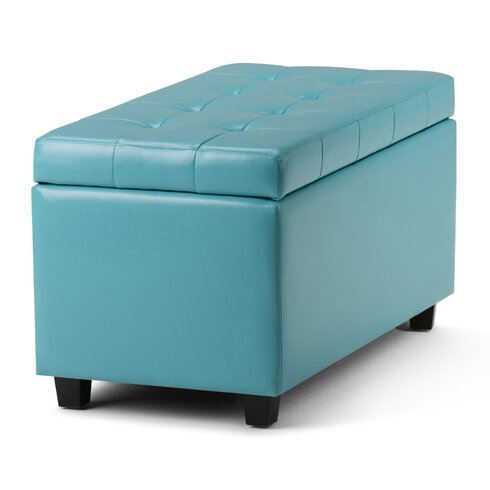 Cosmopolitan Rectangular Storage Ottoman - Simpli Home Cosmopolitan Rectangular Storage Ottoman & Reviews