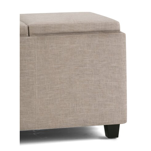 Avalon Rectangular Storage Ottoman - Simpli Home Avalon Rectangular Storage Ottoman & Reviews Wayfair