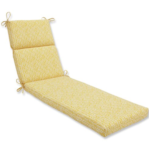 Pillow perfect herringbone outdoor chaise lounge cushion for 23 w outdoor cushion for chaise