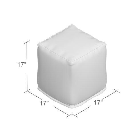 Breakwater Bay Limestone Bean Bag Cube Ottoman Amp Reviews