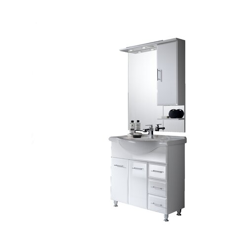 Viva 85cm Vanity Unit with Mirror and Tap