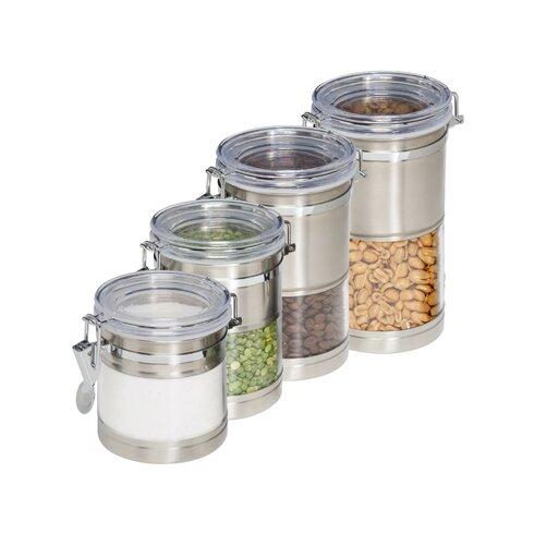 honey can do 4 piece kitchen canister set reviews wayfair