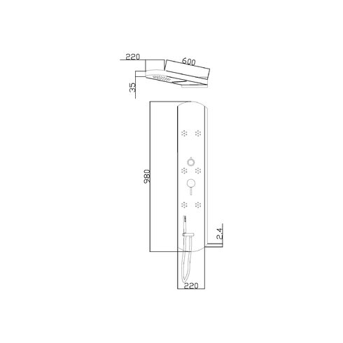 Interval Dual Function Shower Panel