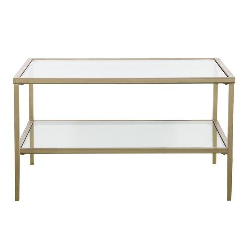 Myron Square Metal/Glass Open Shelf Coffee Table - Glass Coffee Tables You'll Love Wayfair