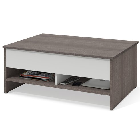 Latitude run frederick storage coffee table with lift top for Long coffee table with storage