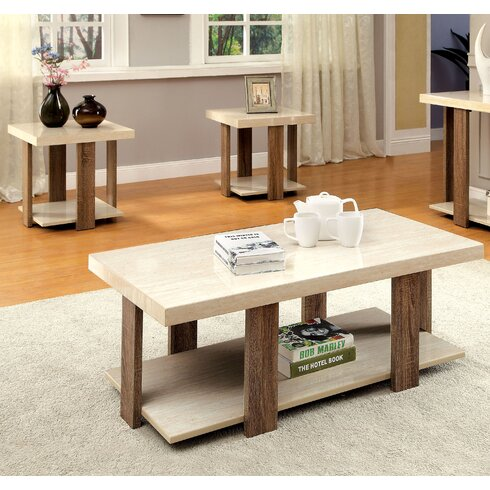 Wade Logan Dunlevy 3 Piece Coffee Table SetReviewsWayfair