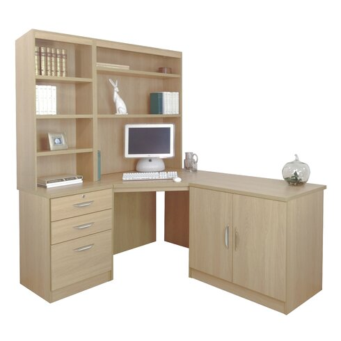 Walshaw Computer Desk with Hutch Bookcase