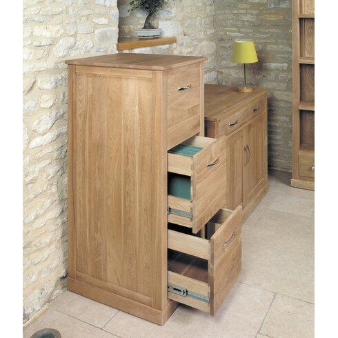 Mobel Oak 3-Drawer Vertical Filing Cabinet
