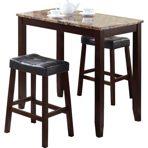 Palazzo 5 Piece Round Bar Height Pub Set Tables At