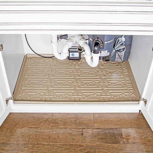 Under sink bathroom cabinet drip tray reviews birch lane for Under sink cabinet tray