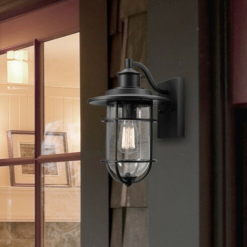 Globe Electric Company Turner 1 Light Outdoor Wall Lantern Reviews Wayfair