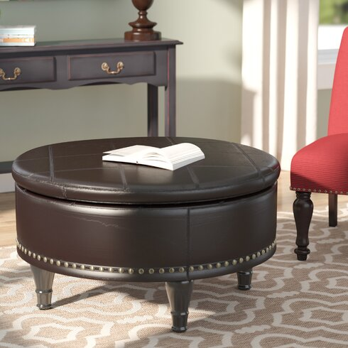 Ellen Eco Leather Storage Ottoman - Darby Home Co Ellen Eco Leather Storage Ottoman & Reviews Wayfair