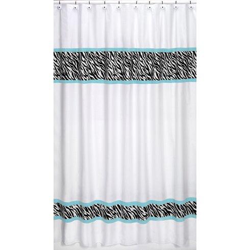 Funky Zebra Cotton Shower Curtain
