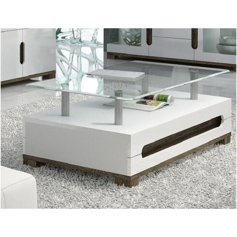 Rhys Coffee Table with Magazine Rack