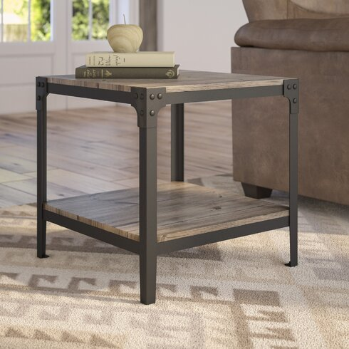 Loon Peak Arboleda Rustic Wood End Table Amp Reviews Wayfair