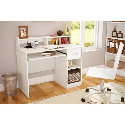 South Shore Axess 1 Drawer Computer Desk With Hutch