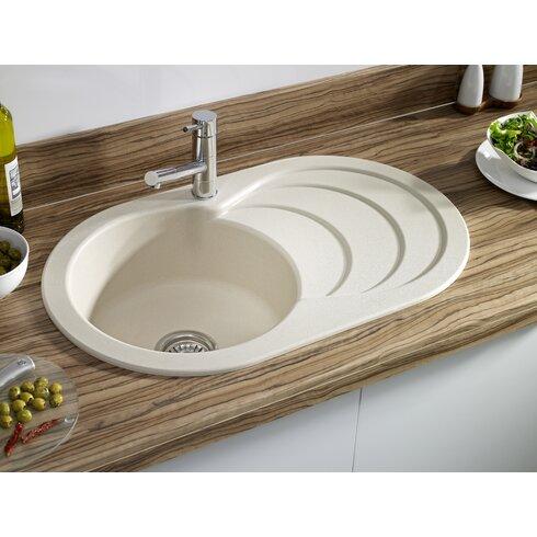 Twinberry 79cm x 48cm 1.0 Bowl Kitchen Sink