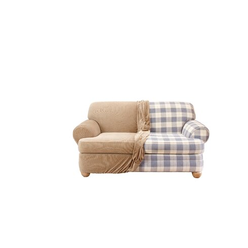 Sure Fit Stretch Stripe Loveseat T Cushion Slipcover Reviews